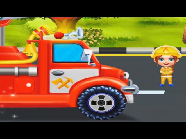 Мультик про ПОЖАРНУЮ МАШИНКУ (1 серия) Тушение пожара развивающий мультфильм для детей
