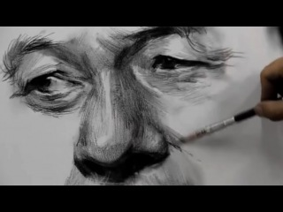 How To Draw Eyes, Nose & Mouth with  Charcoal vs Pencil