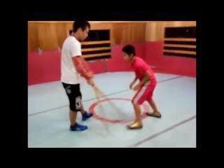 Japanese wrestling reflex training