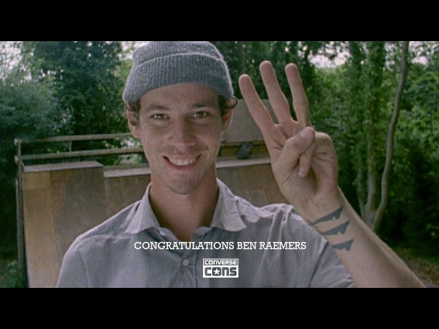 Converse Cons congratulates Ben Raemers on turning Pro.