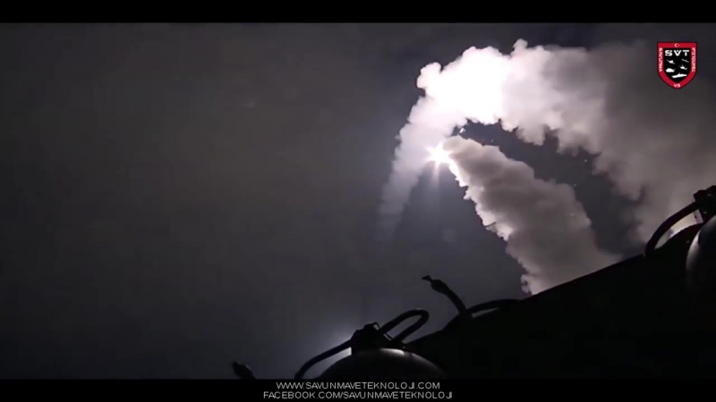 Rusya 3M 14 Kalibr füzesi ile vurdu