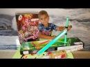 Как Ян запаковывал подарок для Анжелины. Monster Hight Gooliope Jellington. Star Wars Sword.