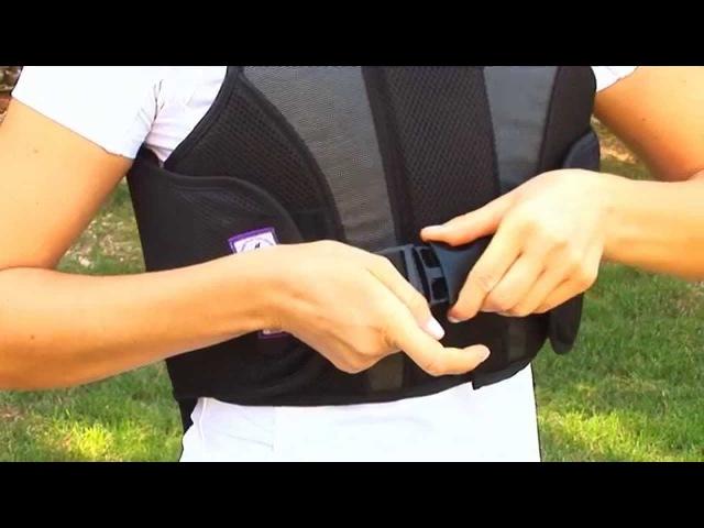 Bustino protettivo da Equitazione Tattini con zip