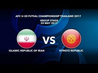 #AFCU20FC THAILAND 2017 - M40 IR Iran vs Kyrgyz Republic - Highlights
