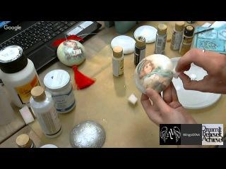 Имитация серебра Декупаж: вебинар и мастер-класс Новогодняя мастерская Wings of Art