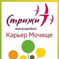 Логотип Стрижи/ Карьер Мочище/ Общаемся вместе!