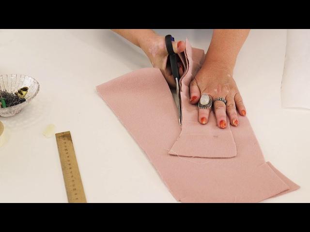 Стояче-отложной воротник своими руками Моделирование простого воротника сразу на ткани