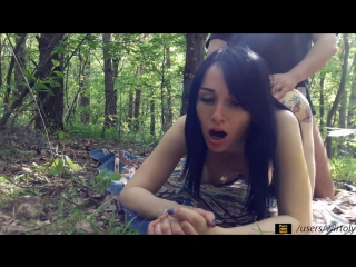 домашнее порно Real sex In A Quiet Forest