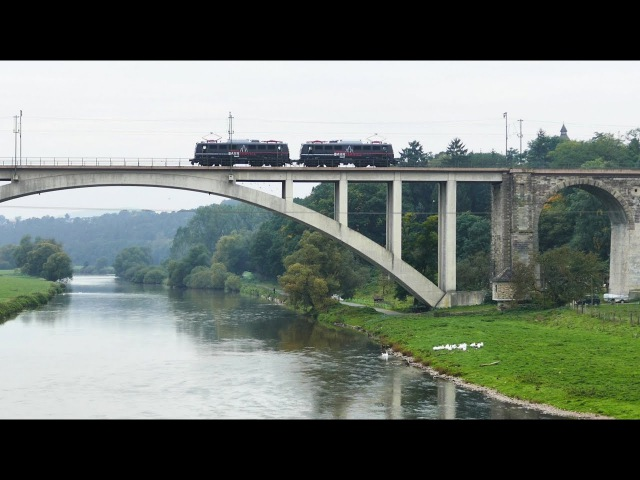 Ehemals größte Eisenbahnbrücke in Deutschland bei Guntershausen in Nordhessen