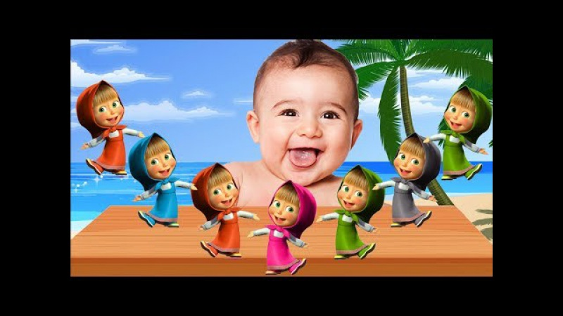 MASHA COLORS   COLORFUL MASHA BAD BABY Cry Learn Colors BEAR Daddy Finger Family song Nursery Rhymes