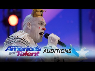 Puddles Pity Party: Sad Clown Stuns Crowd with Sia's Chandelier - America's Got Talent 2017