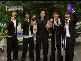 SS501 BTS at Warning MV Making on KM News 050607