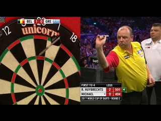 Ronny Huybrechts (Belgium) vs John Michael (Greece) (PDC World Cup of Darts 2017 / Round 2)