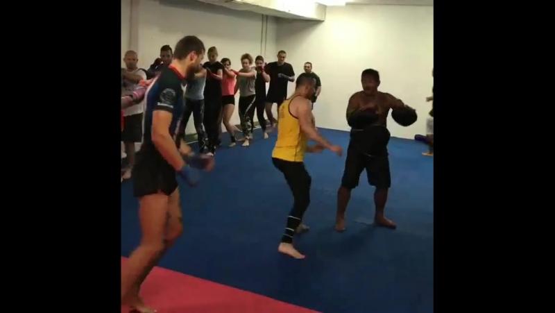 Тренировка тайский бокс