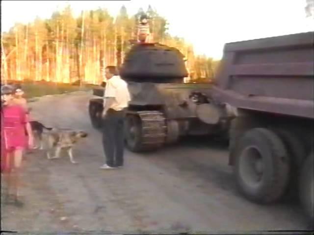 TANKS PIENAVAS PURVĀ T-34 1999 | Танк из Пиенавас болота Т-34 1999
