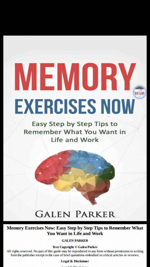 memory exercises now easy step by