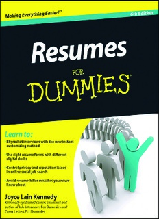 resumes-for-dummies-6th-edition
