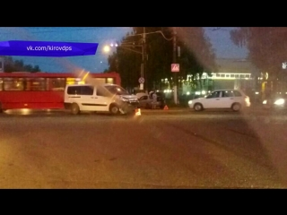 Обзор аварий. Три автомобиля у мясокомбината. 21.06.2018