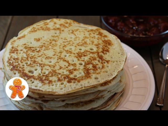 Настоящие Русские Дрожжевые Блины ✧ Russian Yeast Pancakes English Subtitles