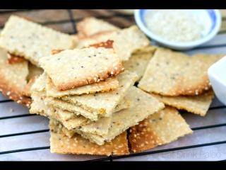 Whole Grain Crackers -- Easy, quick, healthy,  delicious