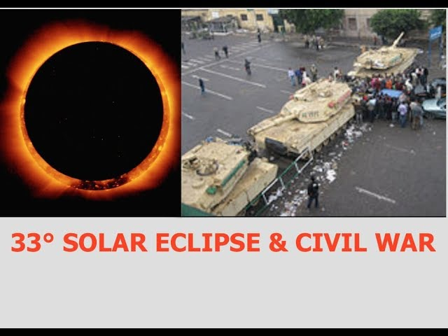 Total Solar Eclipse Divides the Nation at 33° Engineered Civil War Martial Law Next?