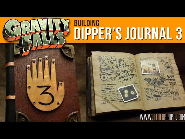 Elderprops Building Dipper's Journal 3 from Gravity Falls