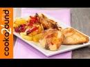 Coniglio arrosto con patate e peperoni