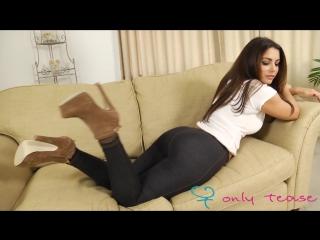 Charlotte Springer arias Charley S sexy Uk brunette striptease black pantyhose
