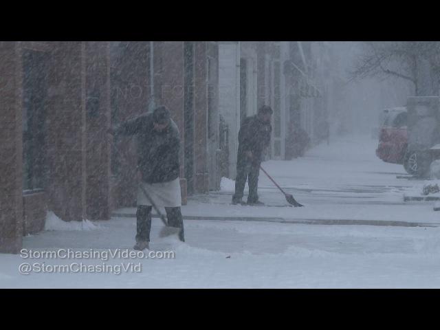 Lindenhurst Suffolk County NY Heavy Snow Nor'easter - 1/7/2017