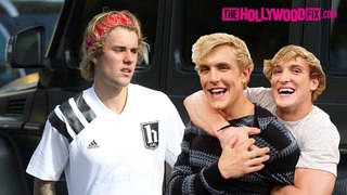 Justin Bieber Is Asked About Collaborating With Jake Paul, Logan Paul & RiceGum At Fatburger