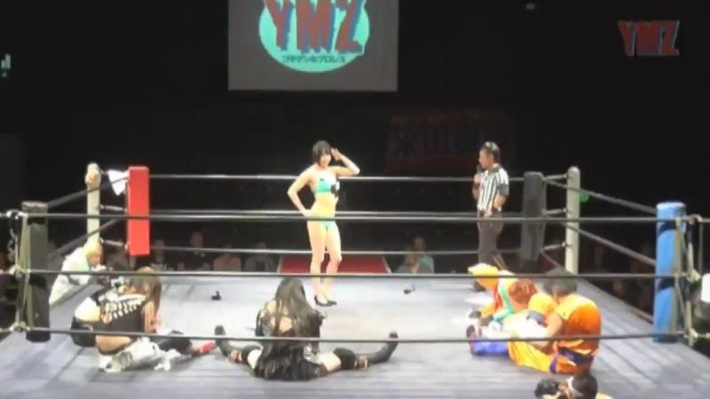 Kaori Yoneyama, Isami Kodaka, Best Stretchman V3 vs. Manami Toyota, Asuka, PSYCHO (YMZ - Summer Festival 2017)