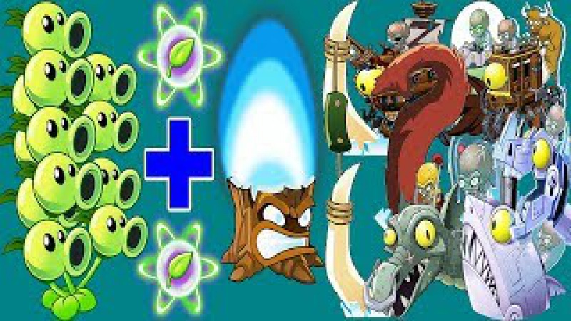 Plants vs Zombies 2 MOD: Threepeater Pvz2 And Torchwood Pvz 2 Vs All Freakin' Zomboss