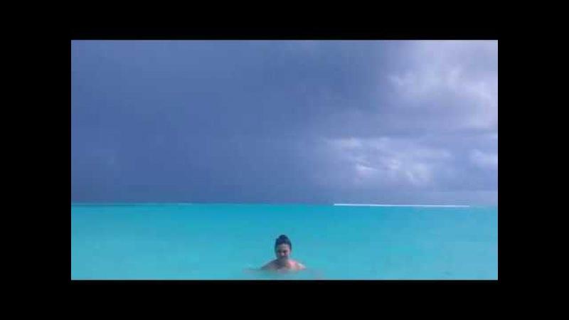 The Maldives island thoddoo rain