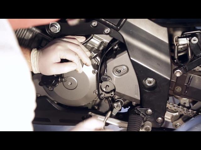 Vstrom DL1000 монтаж-демонтаж цилиндра сцепления