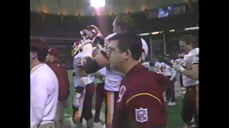 Redskins vs Vikings. 1993 NFC Wild Card