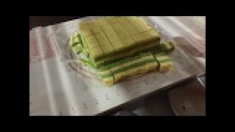 Matcha(green tea) cake cut - CHEERSONIC UFM6000