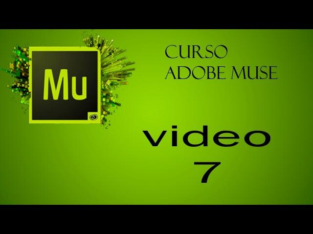 Curso Adobe Muse, Colocar imagenes con Rollover, Video 7