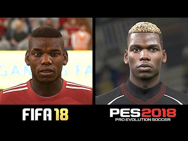 FIFA 18 VS PES 2018 | PLAYER FACES COMPARISON