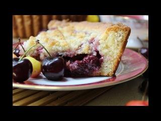Рецепт- Вишнёвый пирог на творожном тесте