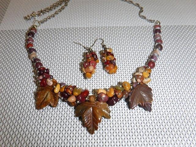 Украшения из натуральных камней. Яшма, аквамарин. Jewellery made of natural stones.