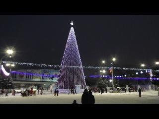 Новая барнаульская городская елка (à la московская) на пл. Сахарова. Видеоролик 2