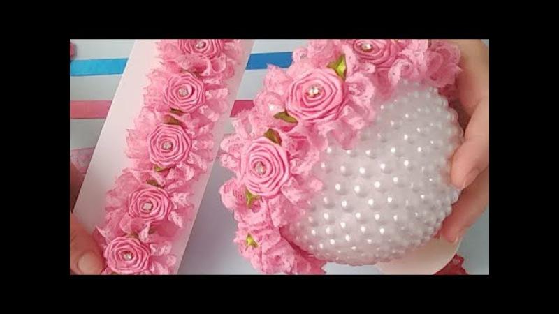 Coroa De Flores Rococó Na Meia De Seda com renda nº 5