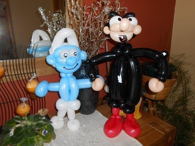Sculpture sur ballon N° 46 le Schtroumpf Smurf balloon tutorial Pitufo globo