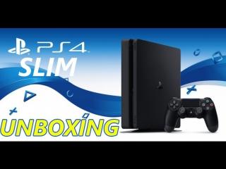 Распаковка PS4 Slim (DNS-shop)