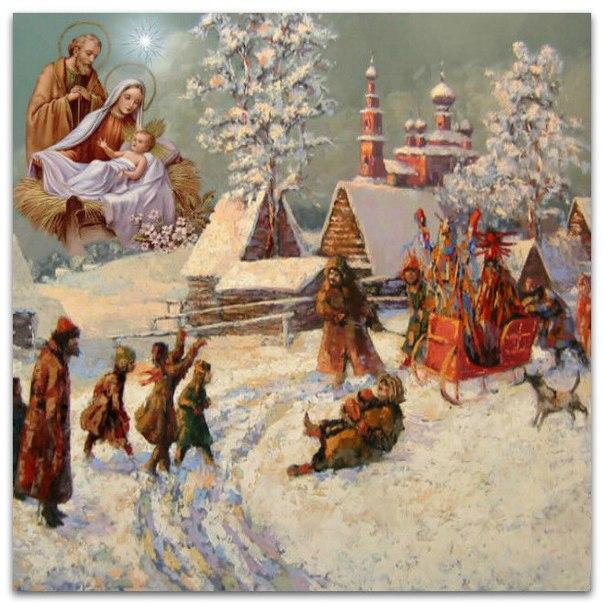 открытки на рождество крещение пасху маленький