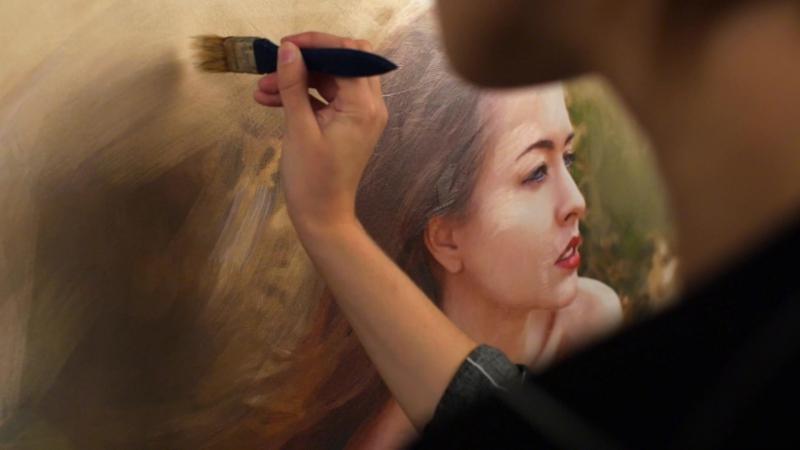 Прорисовка картины маслом Fresh Art Premium