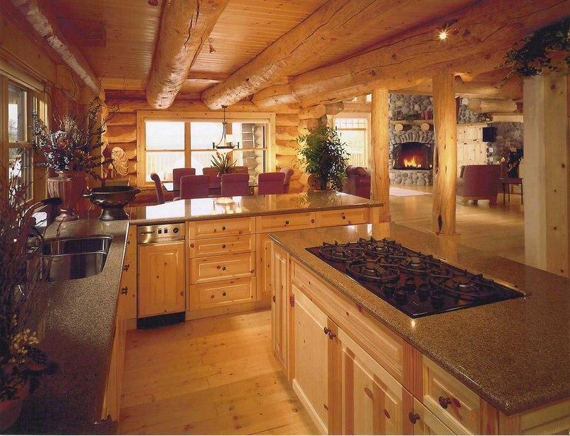 Летняя кухня из бревна для дачи: функциональное сооружение, изображение №2