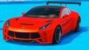 Мультики про Машинки для Мальчиков Спортивные Гоночные Цветные Тачки для Детей Прыжки с Трамплина