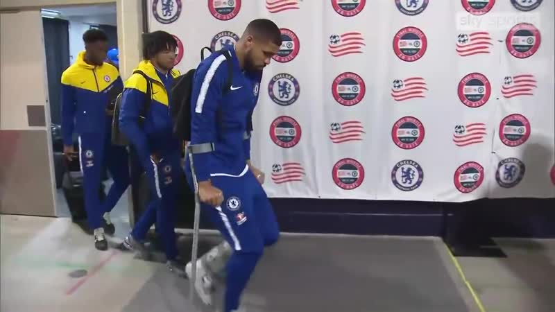Ruben Loftus Cheek is a doubt for the Europa League final after suffering an ankle injury during Chelseas friendly with New Engl