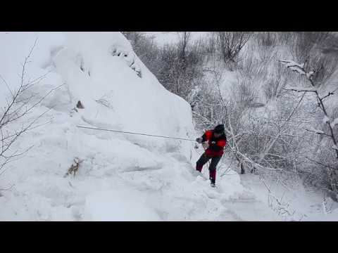 Тренировка альпинизма в заброшенном Студеновском карьере